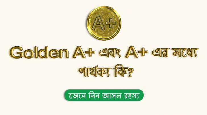 A+ এবং Golden A+এর মধ্যে পার্থক্য কি? | জেনে নিন গোল্ডেন A+ এর আসল রহস্য