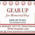 Avon Specials – May 2015 – Memorial Day