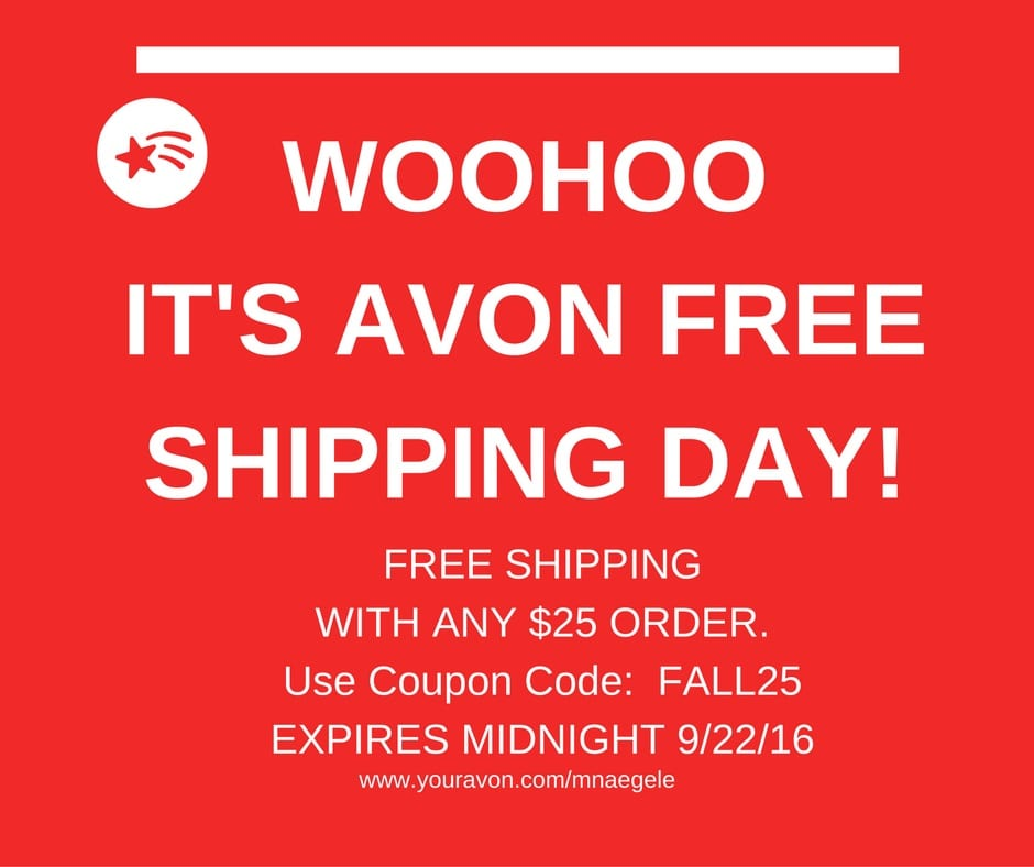 free shipping with avon