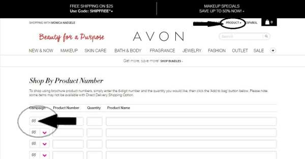 Buying Avon by Product Number