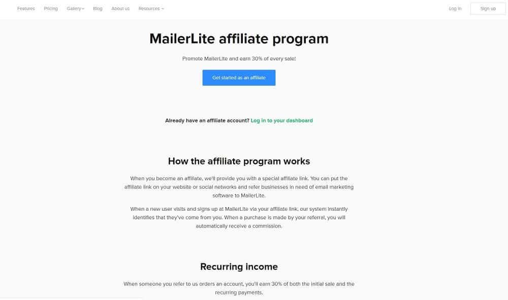 mailerlite affiliate