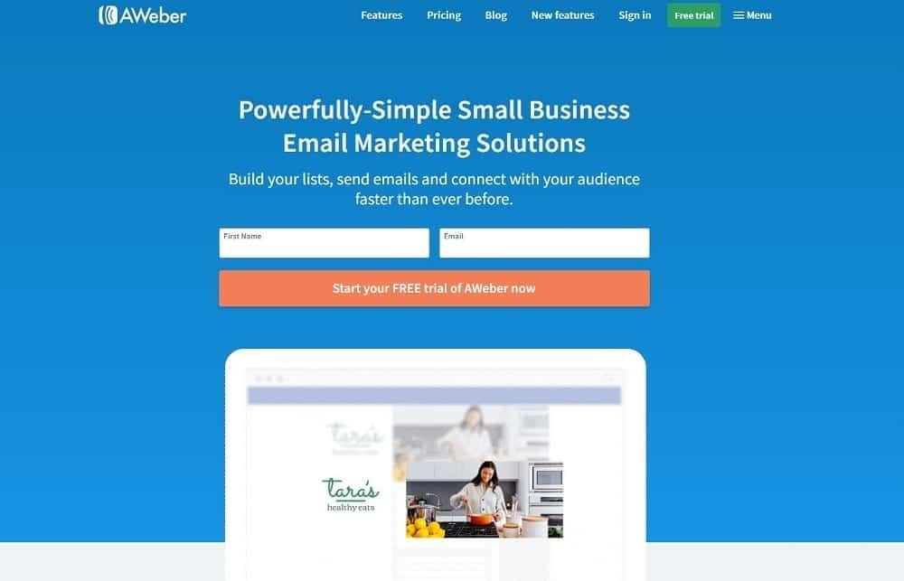 best online marketing tools - aweber