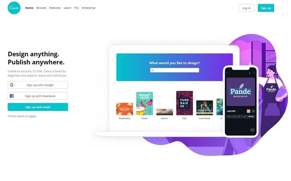 best graphic design tool - canva