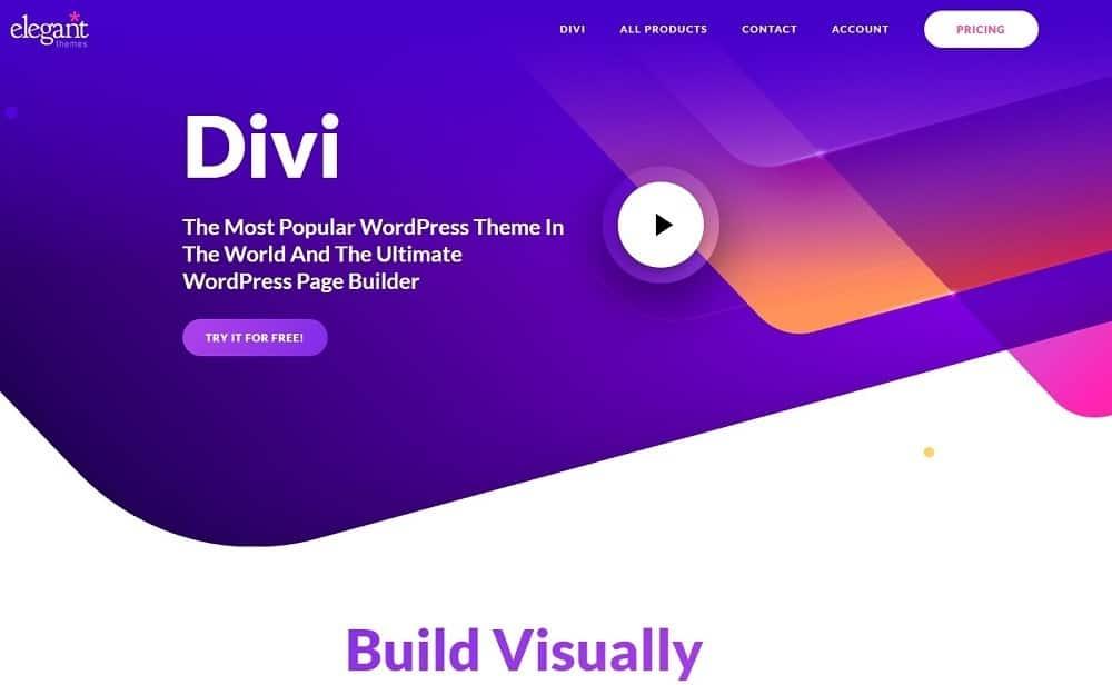 mejor creador de sitios web - divi