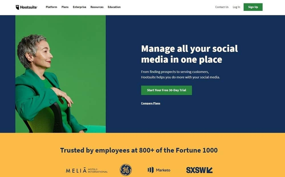 best social media marketing tool - hootsuite