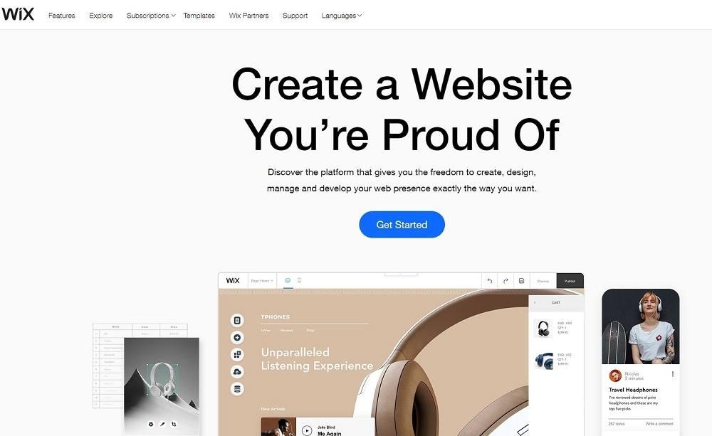 best tools for digital marketing - wix