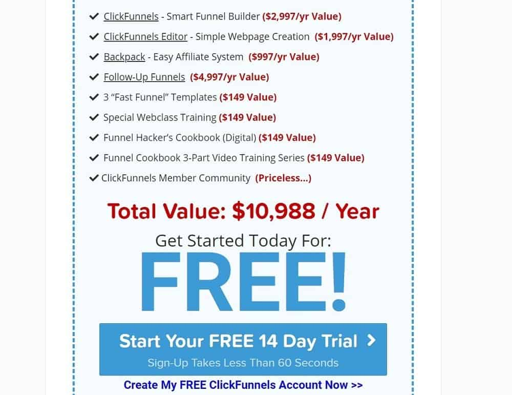 Clickfunnels 14 day free trial_