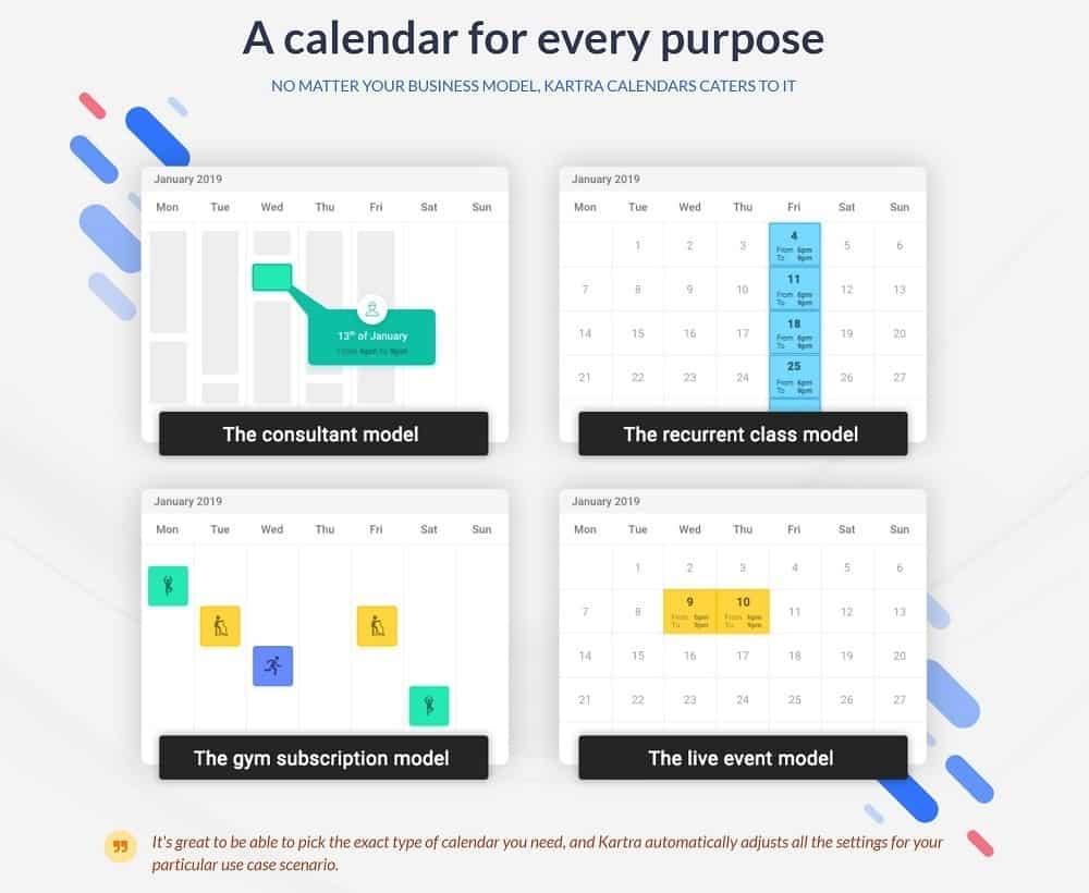 Kartra calendars