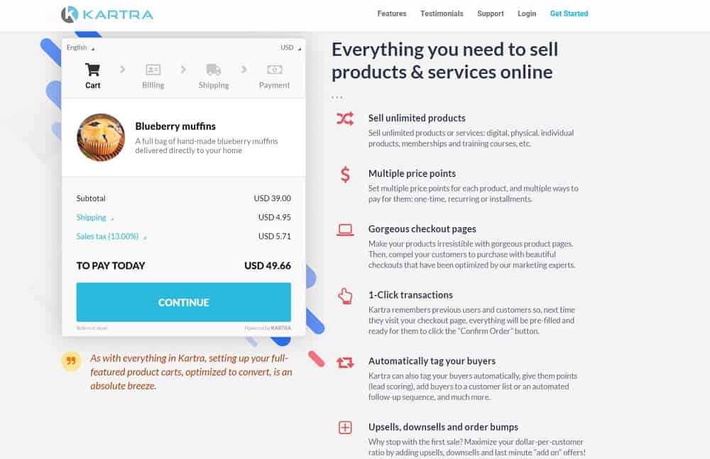 Kartra_checkout_sell products