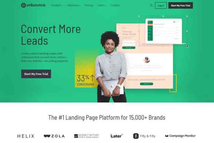 unbounce review_homepage