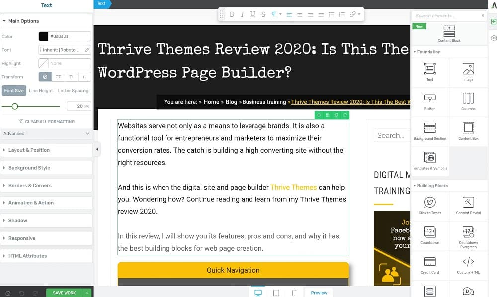 Thrive architect-review