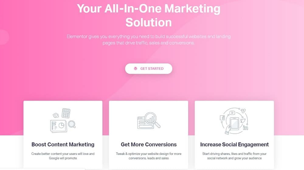 elementor Marketing-oriented tools