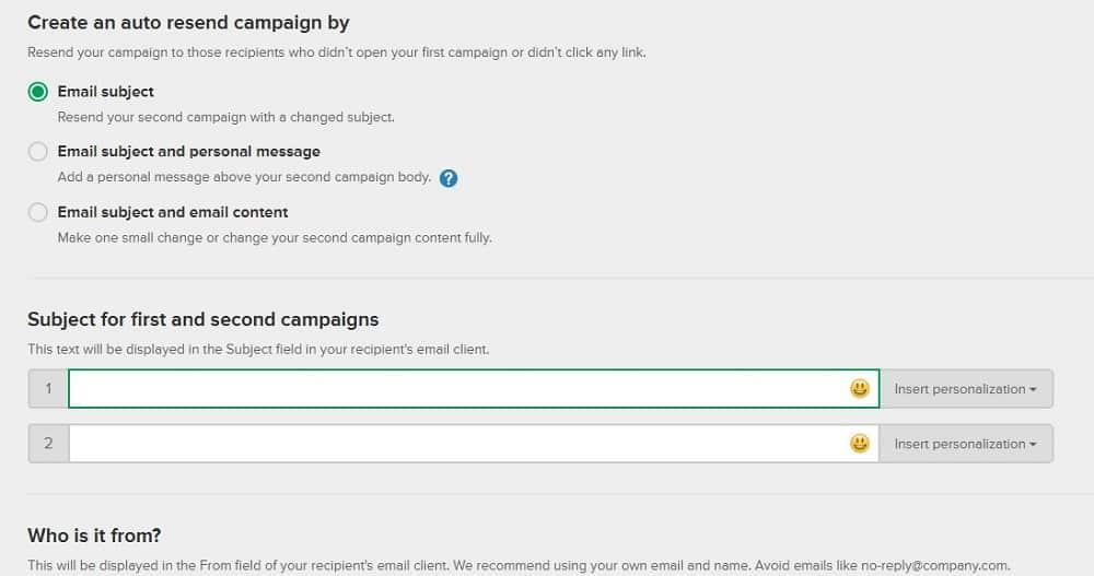 mailerlite auto resend campaign