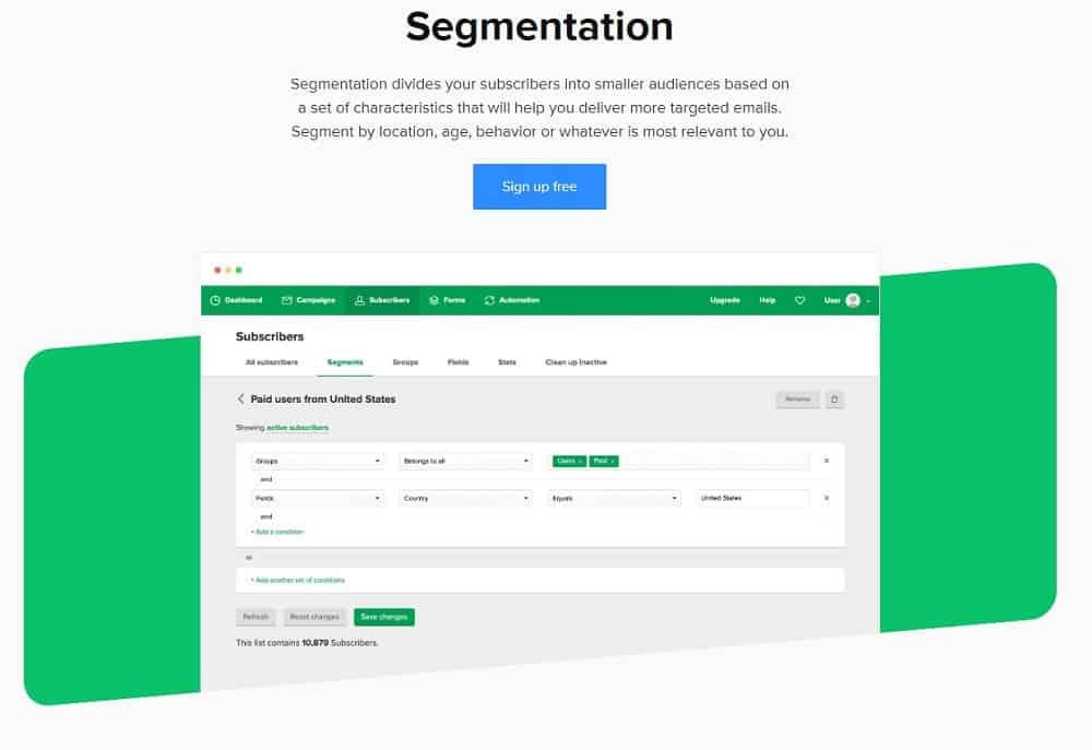 mailerlite segmentation