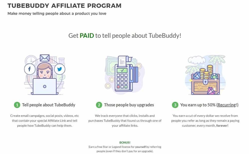 TubeBuddy affiliate program