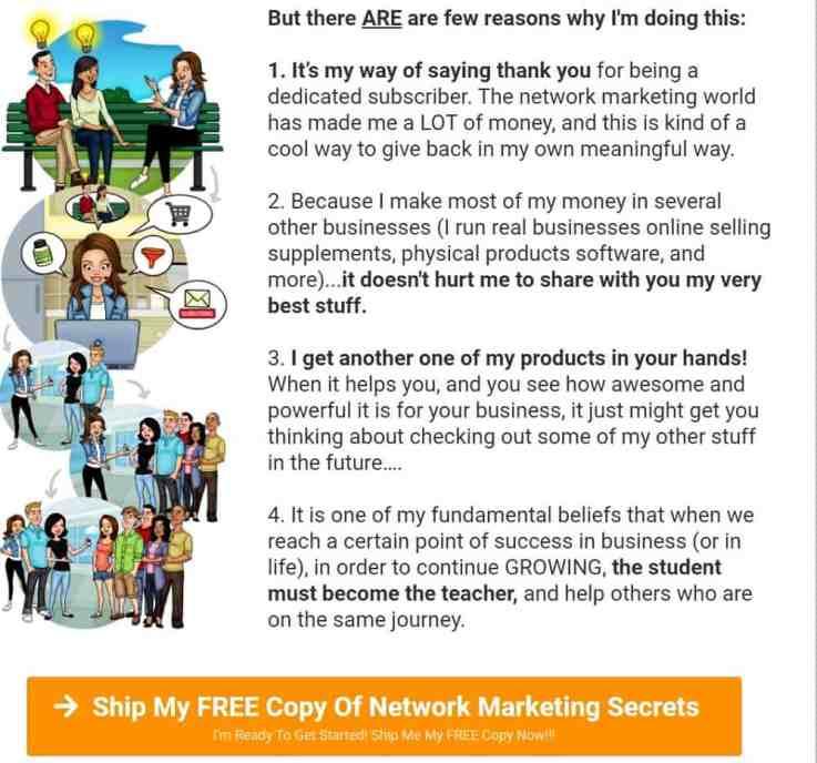 Network Marketing Secrets pricing