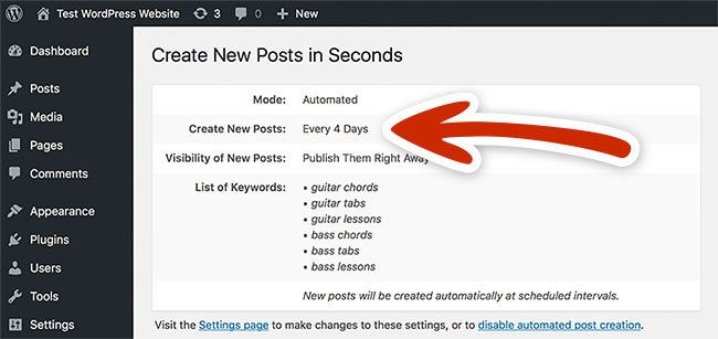 Create new post with Spin Rewriter