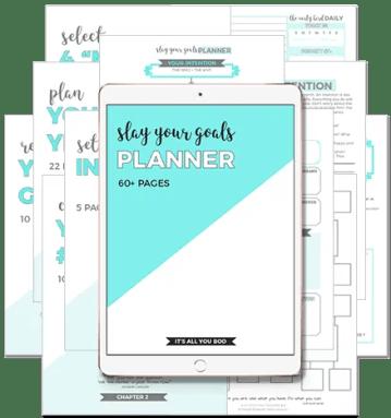 Slay Your Goals Planner
