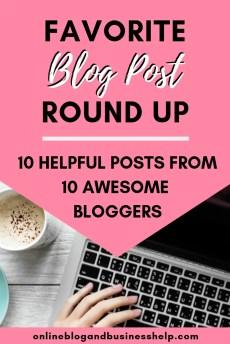 Favorite Blog Post Round Up