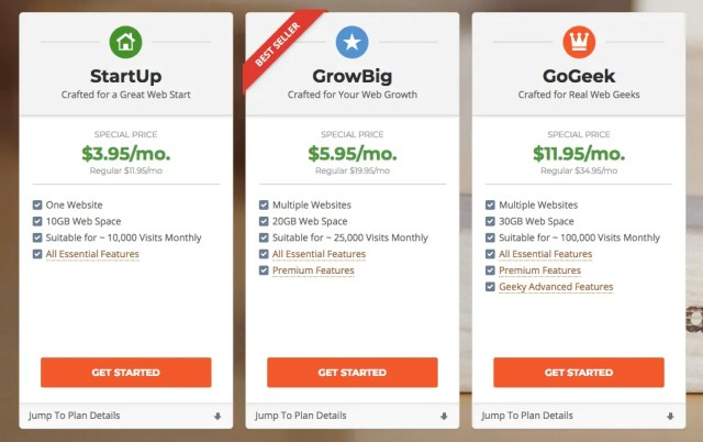 SiteGround Sign Up Pricing