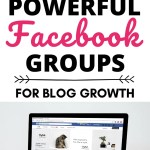 "Computer with text above ""8 Powerful Facebook Groups for Blog Growth"""