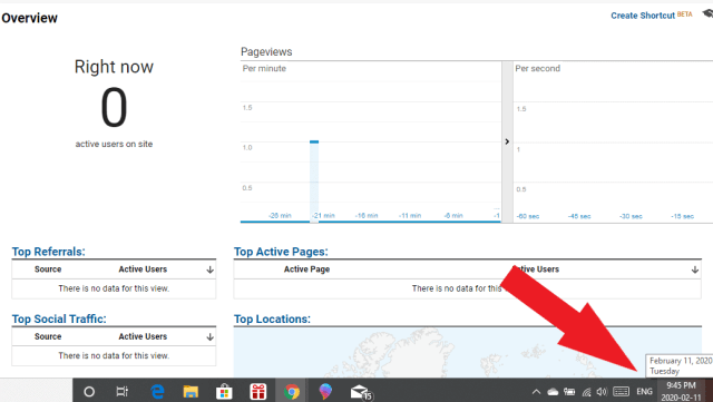 Realtime view of blog traffic from Pinterest