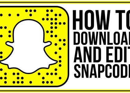 how to download and edit snapcodes