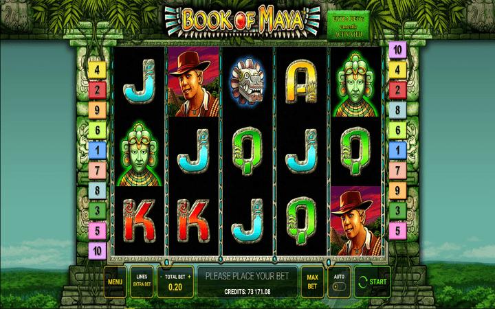 Book of Maya, skriveno blago Asteka, Online Casino Bonus, online free spins