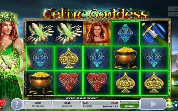 Celtic Goddess, Online Casino Bonus, Microgaming, 2 By 2 Gaming
