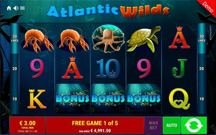 Atlantic Wilds, online casino bonus, online free spins