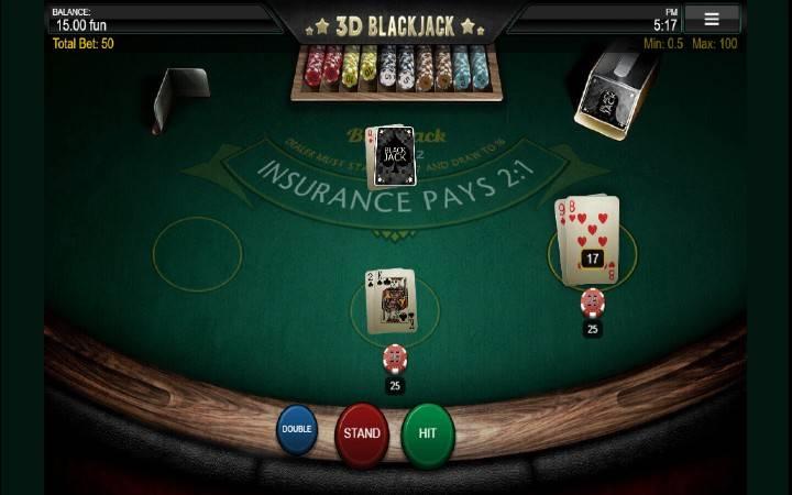 3D Blackjack, online casino bonus