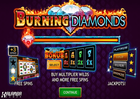 Burning Diamonds – zavrtite vatrene dijamante!