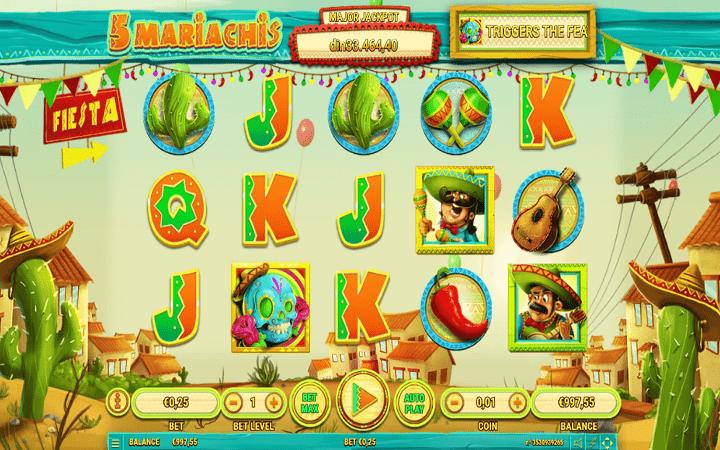 5 Mariachis, Habanero, Online Casino Bonus