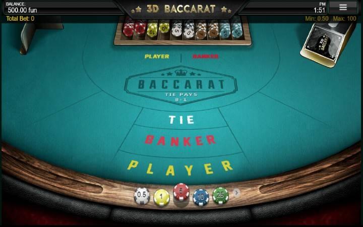 3D Baccarat, Bonus Casino
