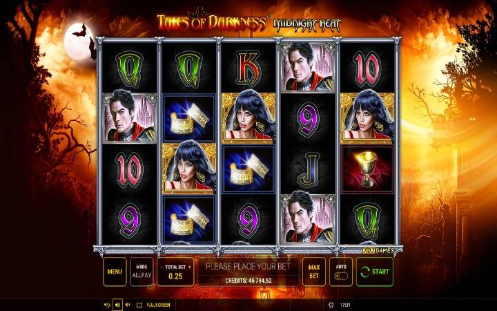 Tales of Darknes Midnight Heat, online casino bonus