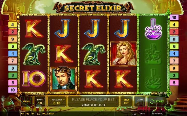 Secret Elixir, Online Casino Bonus