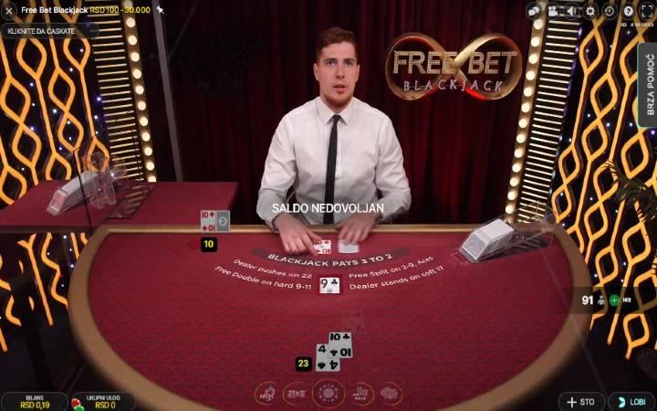 Free Bet Blackjack, Online Casino Bonus