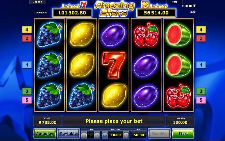 Amazing Stars, Bonus Casino
