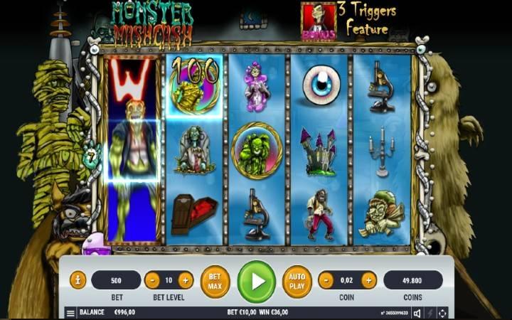 Online casino bonus, džokeri, Monster Mash Cash