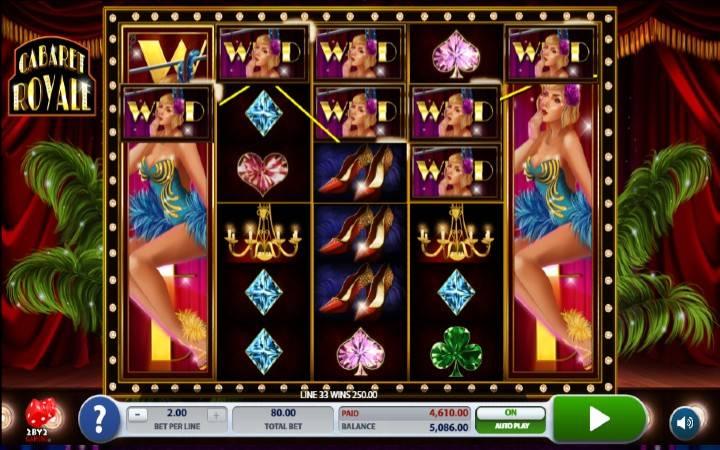 Online Casino bonus, Cabaret Royale