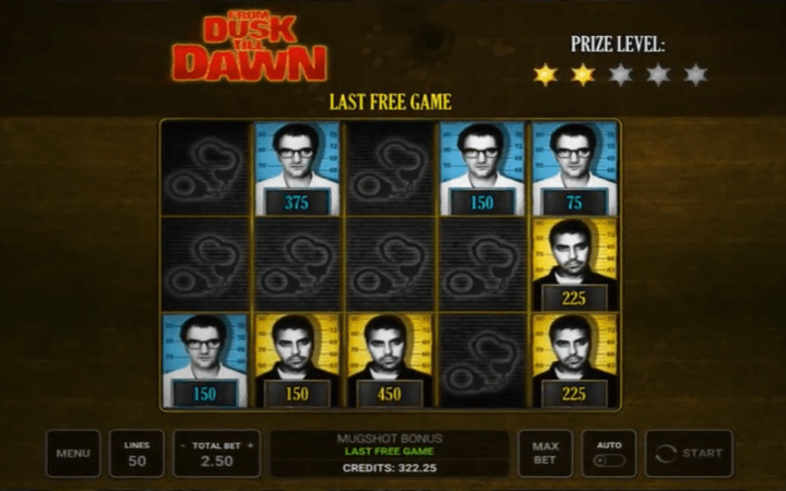 From Dusk Till Dawn, Mugshot Bonus, Bonus Casino