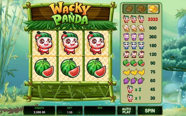 Wacky Panda, Microgaming, Online Casino Bonus