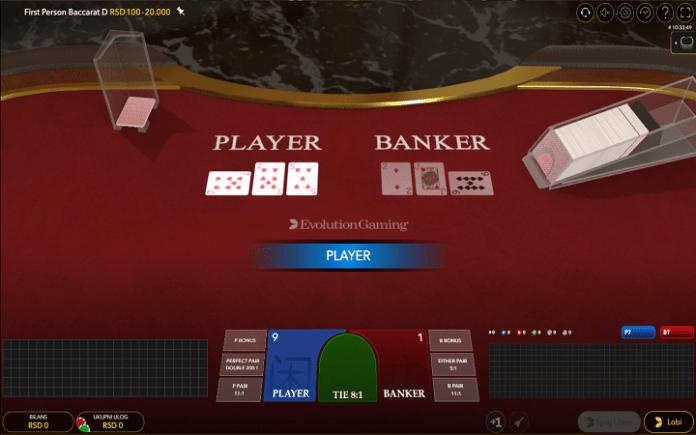 First Person Baccarat, Evolution, Online Casino Bonus