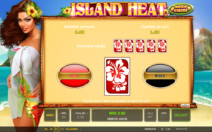 Island Heat, Greentube, Novomatic, Online Casino Bonus