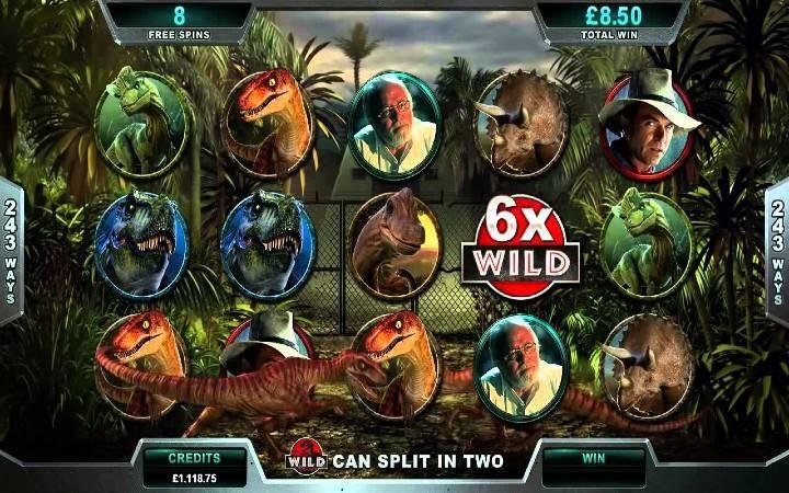 Jurassic Park, Online Casino Bonus