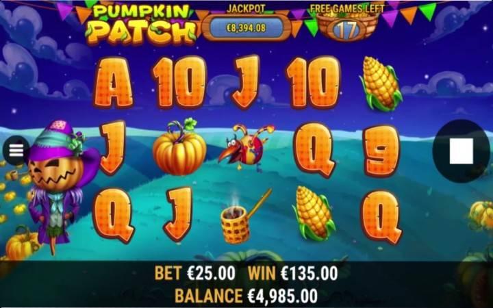 Pumpkin Patch, Online Casino Bonus
