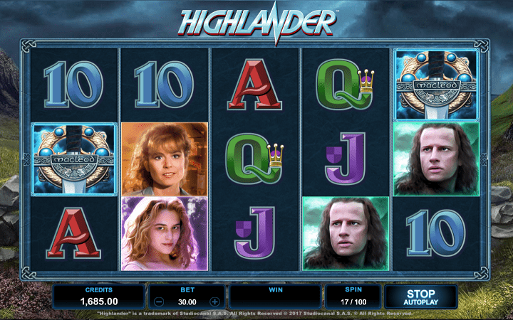 Highlander, Microgaming, Online Casino Bonus