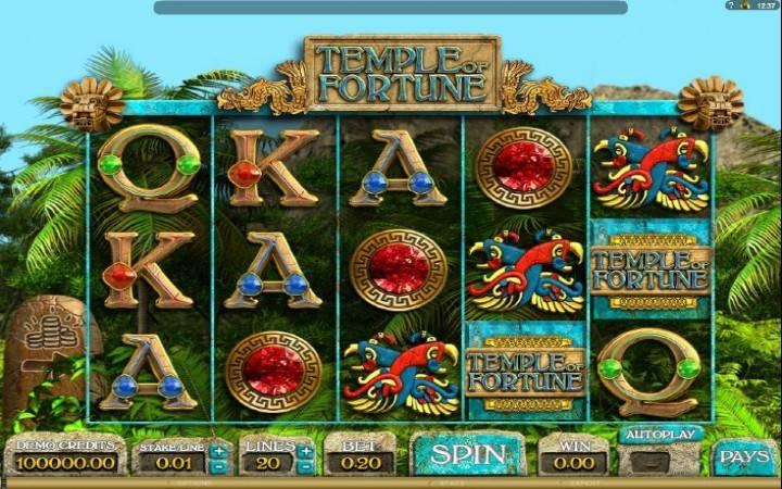 Temple of Fortune, Bonus Casino