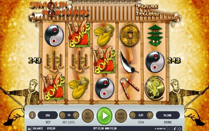 Shaolin Fortunes, online casino bonus, besplatni spinovi