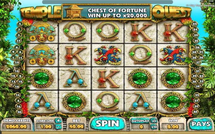 Temple Quest, online casino bonus